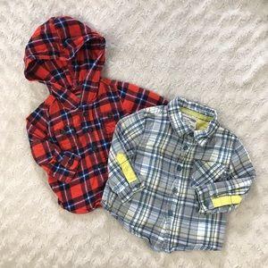 OshKosh B'Gosh Shirt Bundle Button Down Flannel